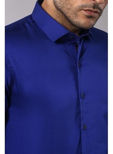 Wessi Slim Fit Uzun Kollu Klasik Gömlek Lacivert